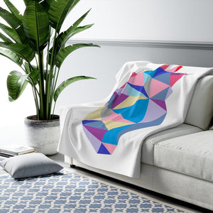 Abstract Heart Fleece Blanket - CHD warrior
