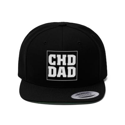 CHD Dad Flat Bill Hat - CHD warrior
