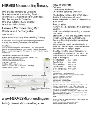 Hermes Microneedling Therapy Dermapen for Collagen Induction Therapy - Hermes Microneedling Therapy