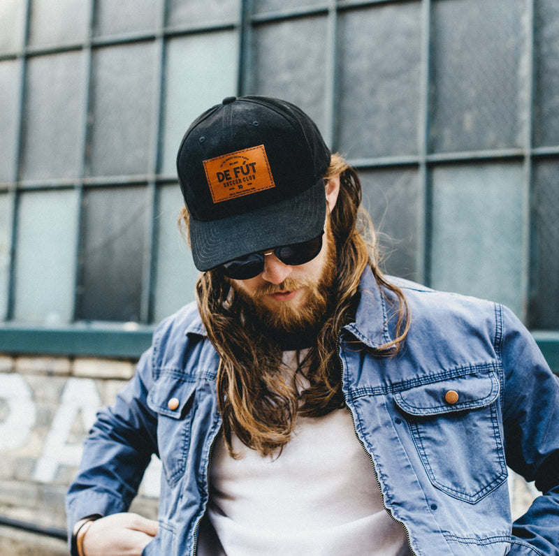 DFSC Leather Patch Cap - Black (25% Off - Ltd. Time)