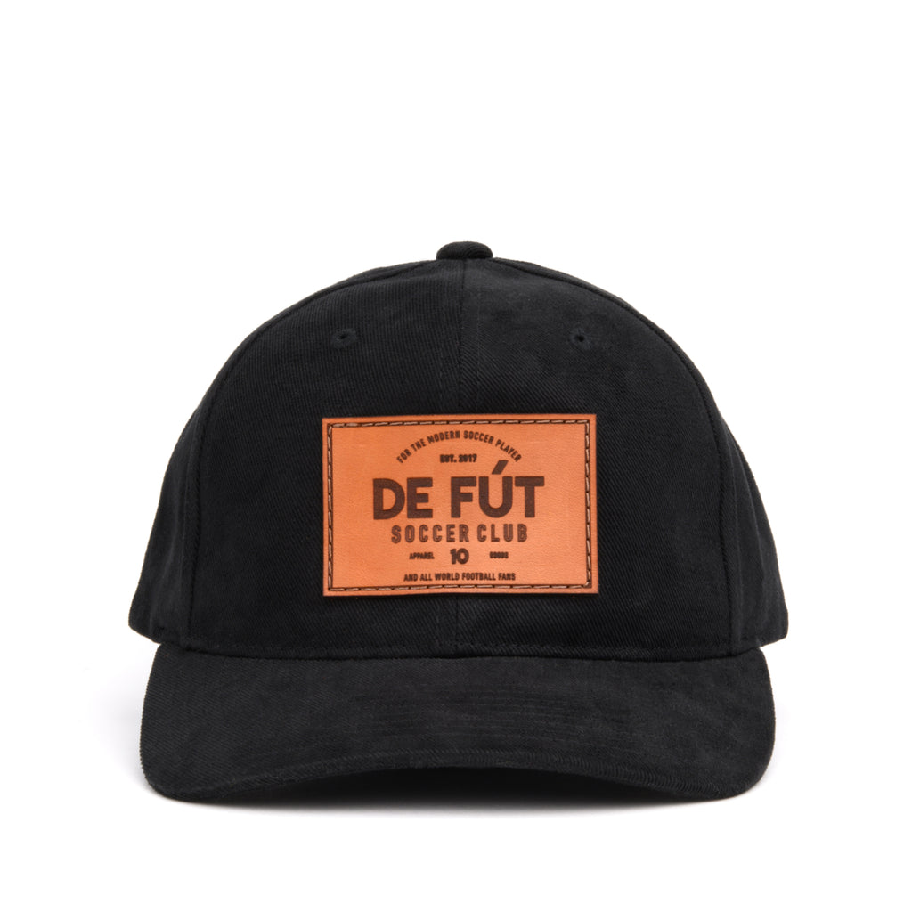 DE FÚT DFSC Leather Patch - Black | Lifestyle soccer brand.