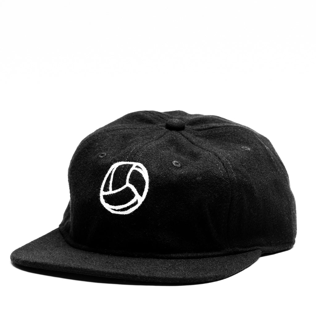 Tiento Chain Stitch Wool Cap - Black