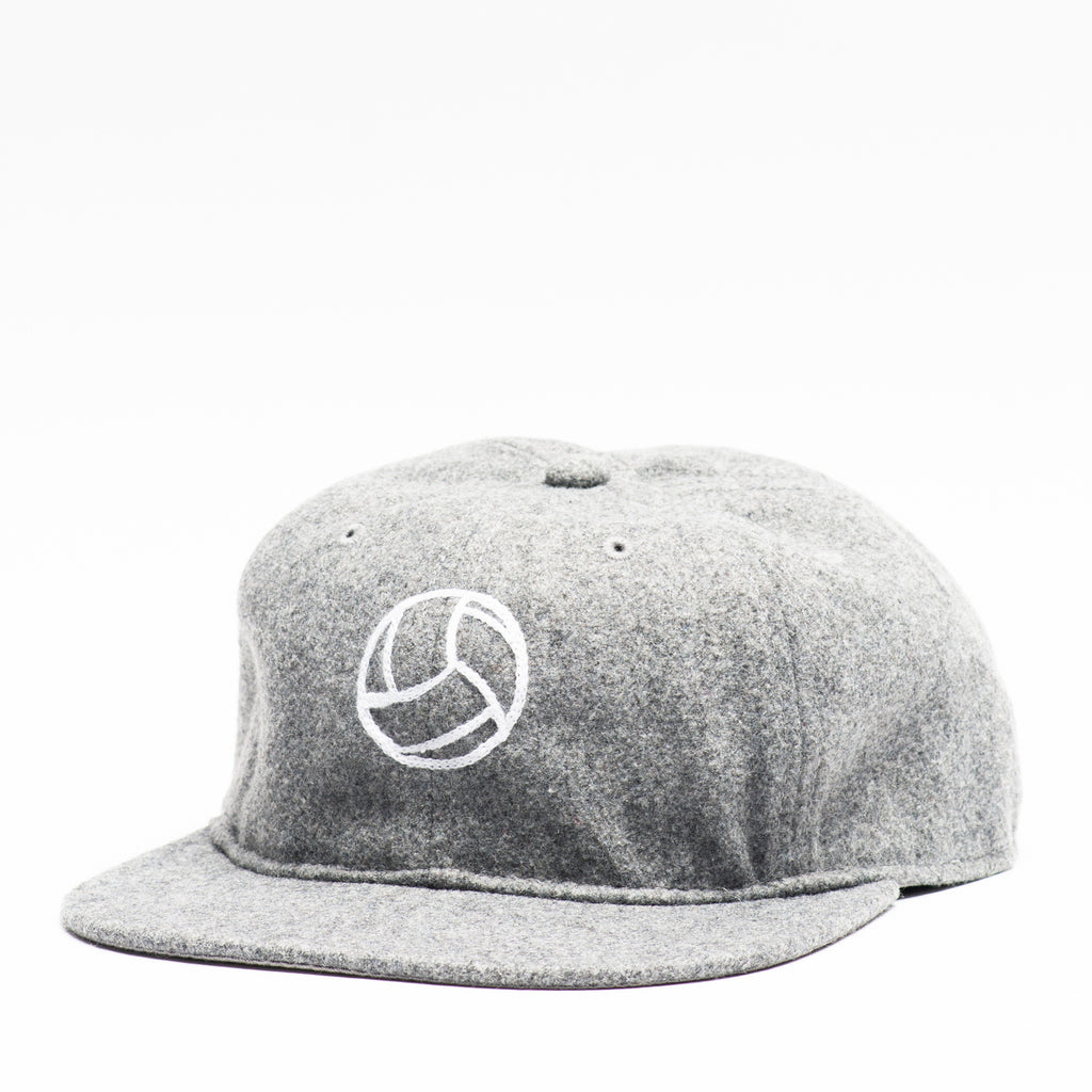 Tiento Chain Stitch Wool Cap - Gray