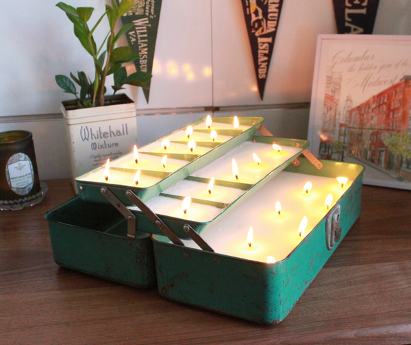 Crazy Candle Challenge: Vintage Tackle Box Candle