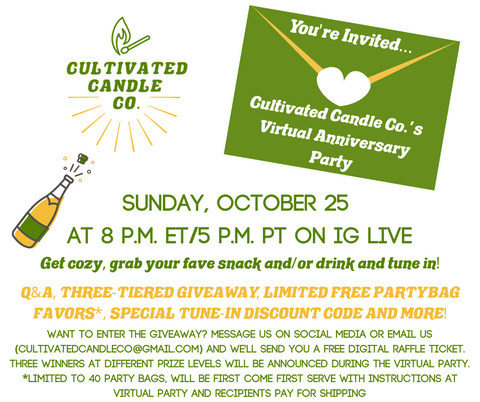 Cultivated Candle Co. Anniversary