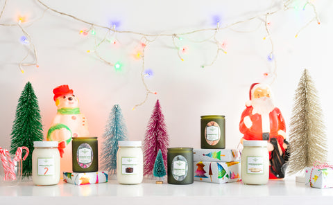 Retro Holiday Collection at Cultivated Candle Co.