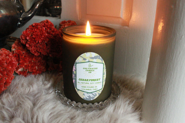The Cedar Forest Candle at Cultivated Candle Co.