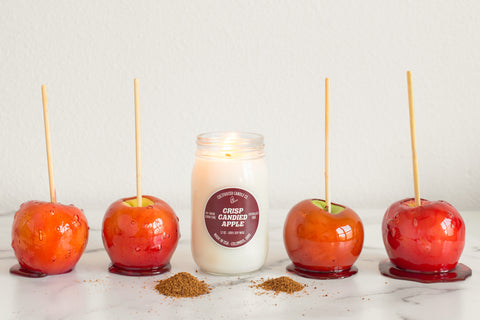 Crisp Candied Apple Candle at Cultivated Candle Co.