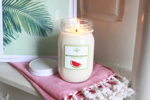 watermelon lemonade candle at cultivated candle co.