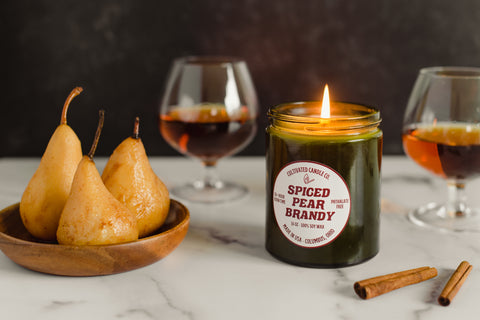 Spiced Pear Brandy Candle at Cultivated Candle Co.