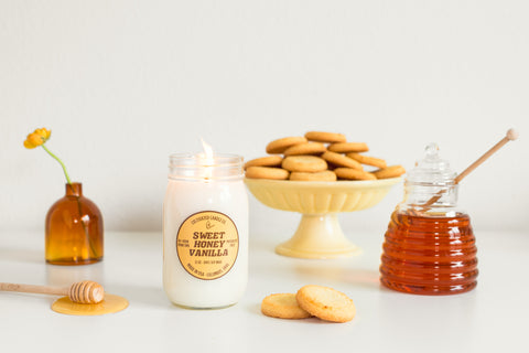 Sweet Honey Vanilla Candle at Cultivated Candle Co.