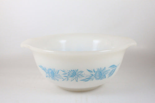 Pick the Scent - Blue Floral Glasbake Bowl Candle
