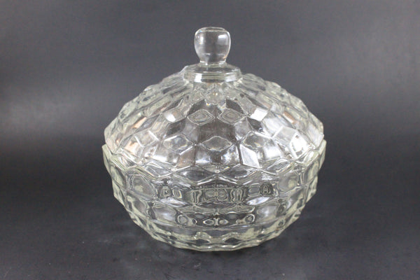 Pick the Scent - Clear Detailed Glass Candy Dish Candle