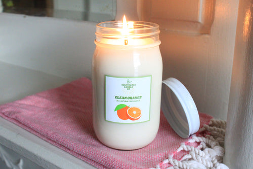 Clean Orange Candle