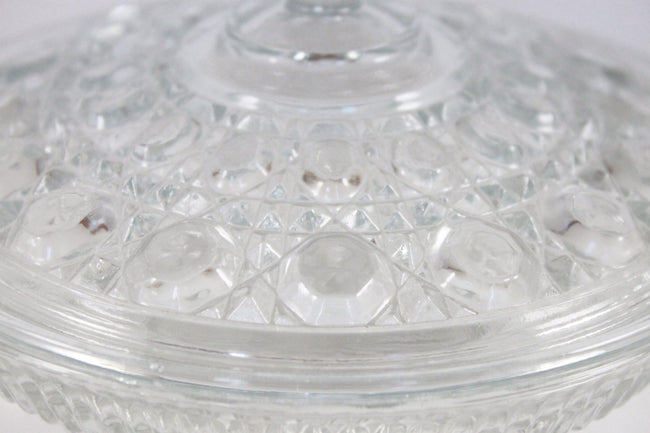 Pick the Scent - Clear Button & Cane Candy Dish Candle