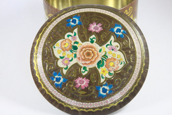 Pick the Scent - Short Round Retro Floral Tin Candle