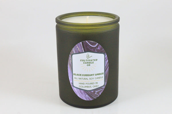 Black Currant Amber Candle