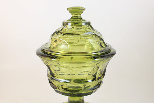 Pick the Scent - Olive Green Detailed Candy Dish Candle