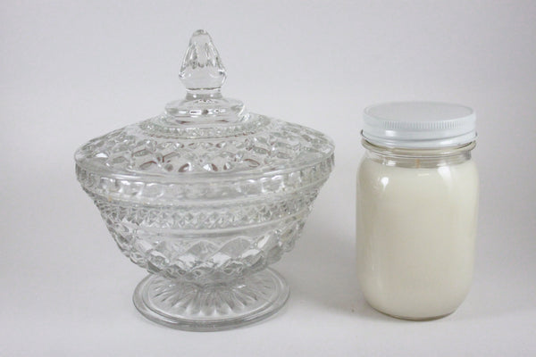 Pick the Scent - Clear Diamond Pattern Glass Candle