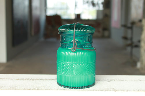 Pick the Scent - Detailed Blue Mason Jar Candle