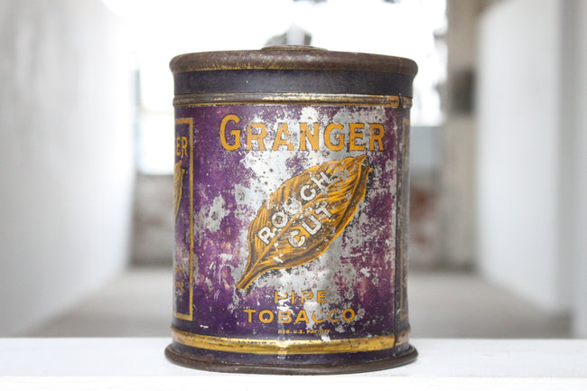 Granger Pipe Tobacco Tin Candle