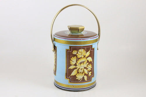 Pick the Scent - Blue Floral Basket Tin Candle
