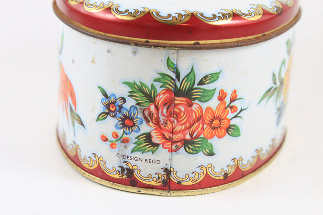 Pick the Scent - Red Floral Tin Candle