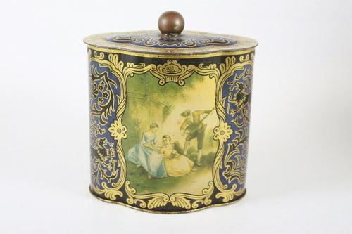 Pick the Scent -  Vintage German Social Scene Tin Candle