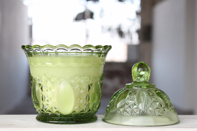 Green Imperial Candy Dish Candle