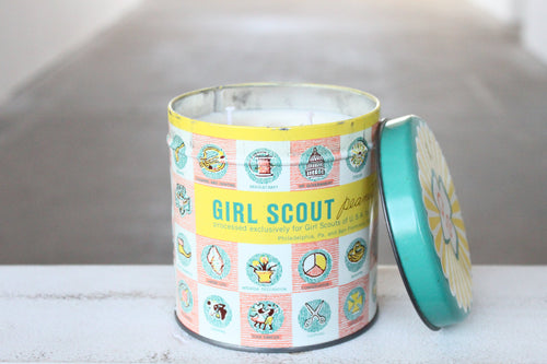Girl Scout Peanut Crunch Tin Candle