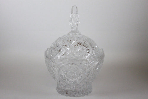 Pick the Scent - Clear Pinwheel Pattern Candy Dish Candle