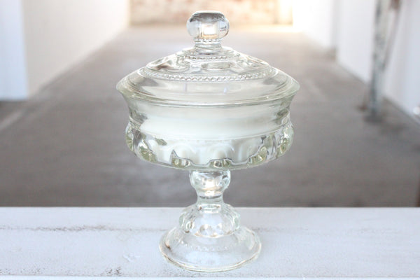 Elevated Clear Candy Dish Candle