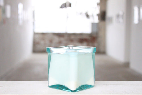 Aqua Glass Candle