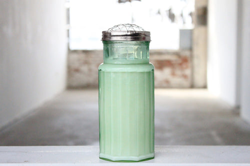 Green Glass Shaker Candle