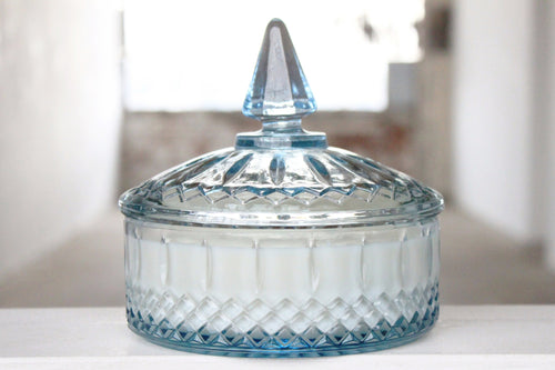 Blue Princess Diamond Candy Dish Candle