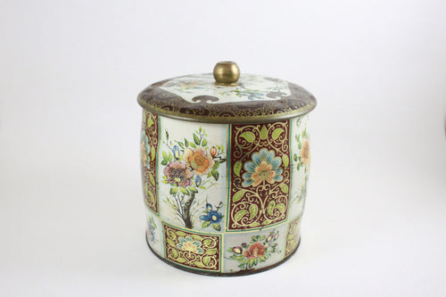 Pick the Scent -  Brown & Gold Floral Tin Candle