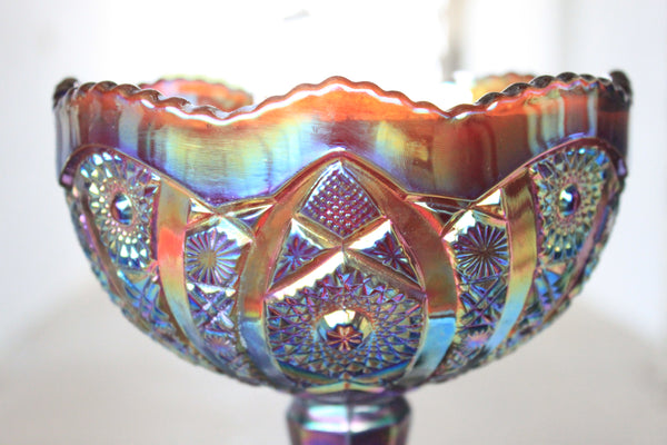 Carnival Glass Fruit Bowl Candle