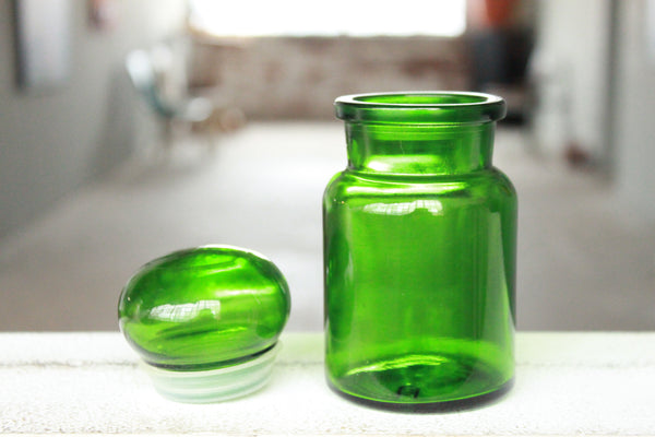 Pick the Scent -  Small Green Belgium Apothecary Glass Candle