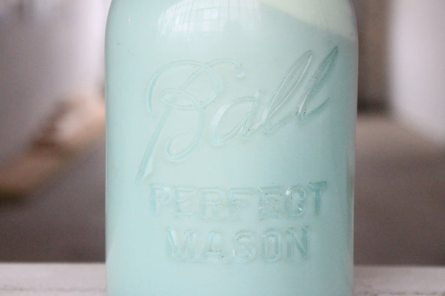 Pick the Scent - Vintage Blue Mason Jar Candle