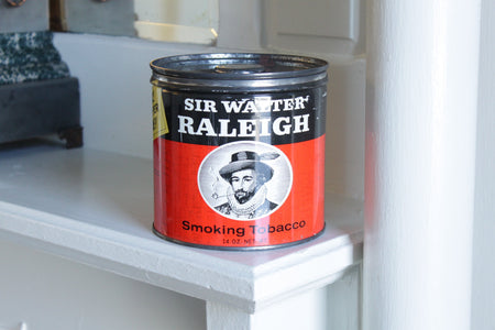 1940s Sir Raleigh Tobacco Tin Candle