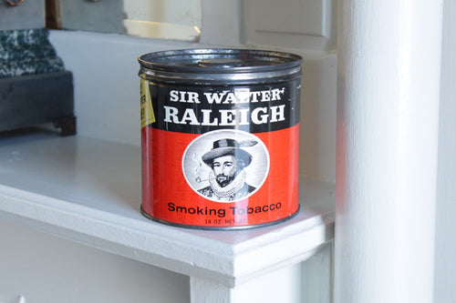 Sir Raleigh Tobacco Tin Candle