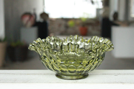 Pick the Scent -  Green Glass Sunflower Bowl Candle
