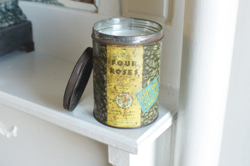 Four Roses Coffee Tin Candle
