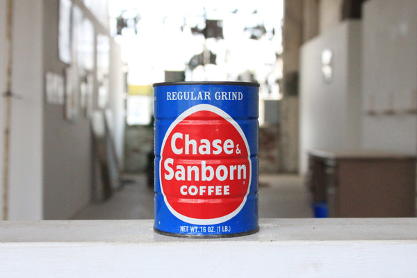 Chase & Sanborn Tall Coffee Tin Candle