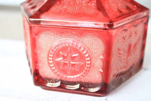 Deep Pink Colonial Eagle & Star Candy Dish Candle