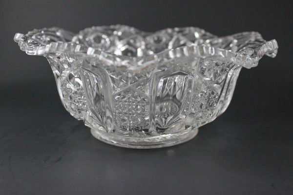 Pick the Scent - Clear Flared Star Pattern Bowl Candle