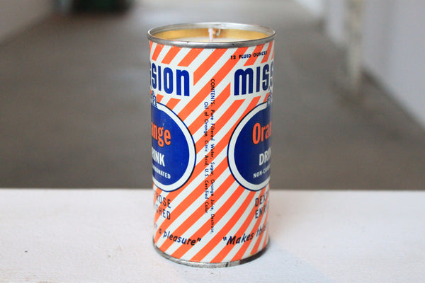 Mission Orange Drink Tin Candle