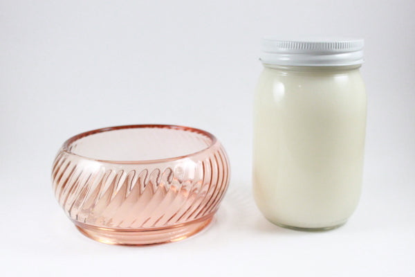 Pick the Scent - Pink Swirl Glass Bowl Candle
