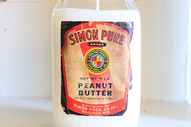 Simon Pure Peanut Butter Jar Candle