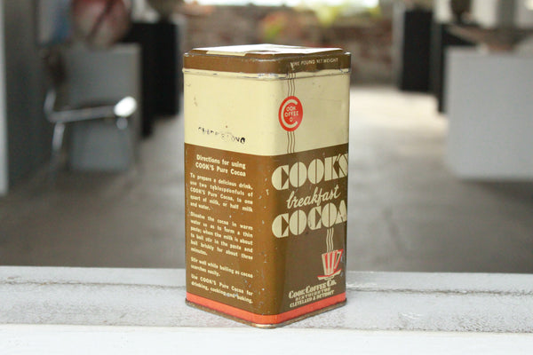 Pick the Scent - Cook's Cocoa Tin Candle